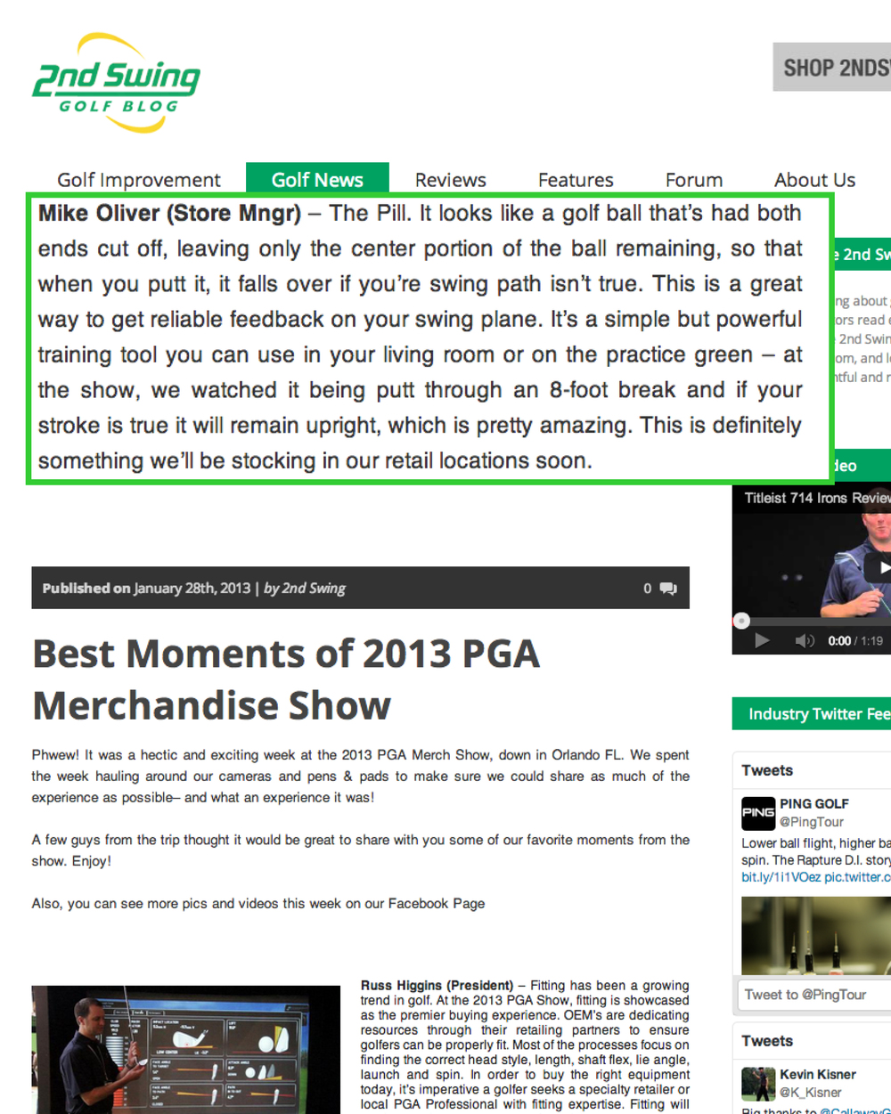 "View:  Second Swing ""Best Moments of the 2013 PGA Merchandise Show"""