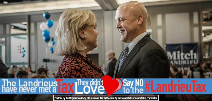 click on the image above to contribute to the efforts to #DefeatLandrieu