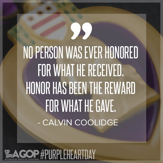 Today we salute those who have been injured in the line of duty, while in service to our nation. We thank you now and always! 💜🇺🇸 #purpleheartday