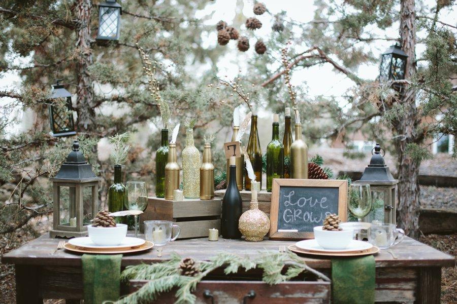 Woodsy Wedding | Woodsy Winter Wedding Inspiration Spokane Washington Wedding