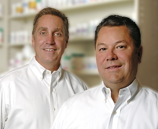 Co-Owners, Jerry Volgraf RPh (left) and Bob Woltjen (right)