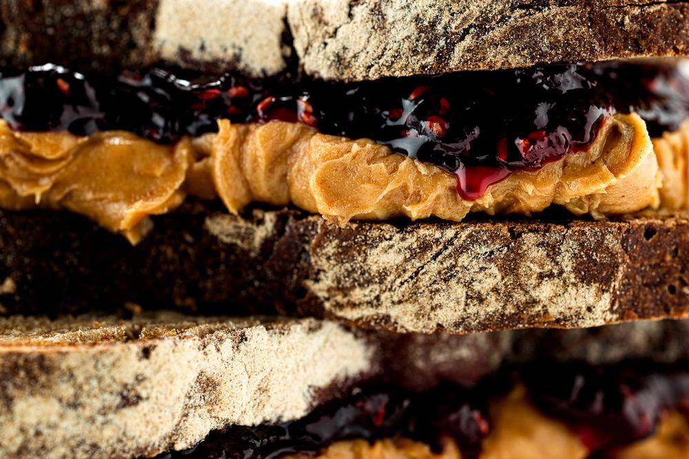 Peanut butter and raspberry jelly on rye 2.jpg
