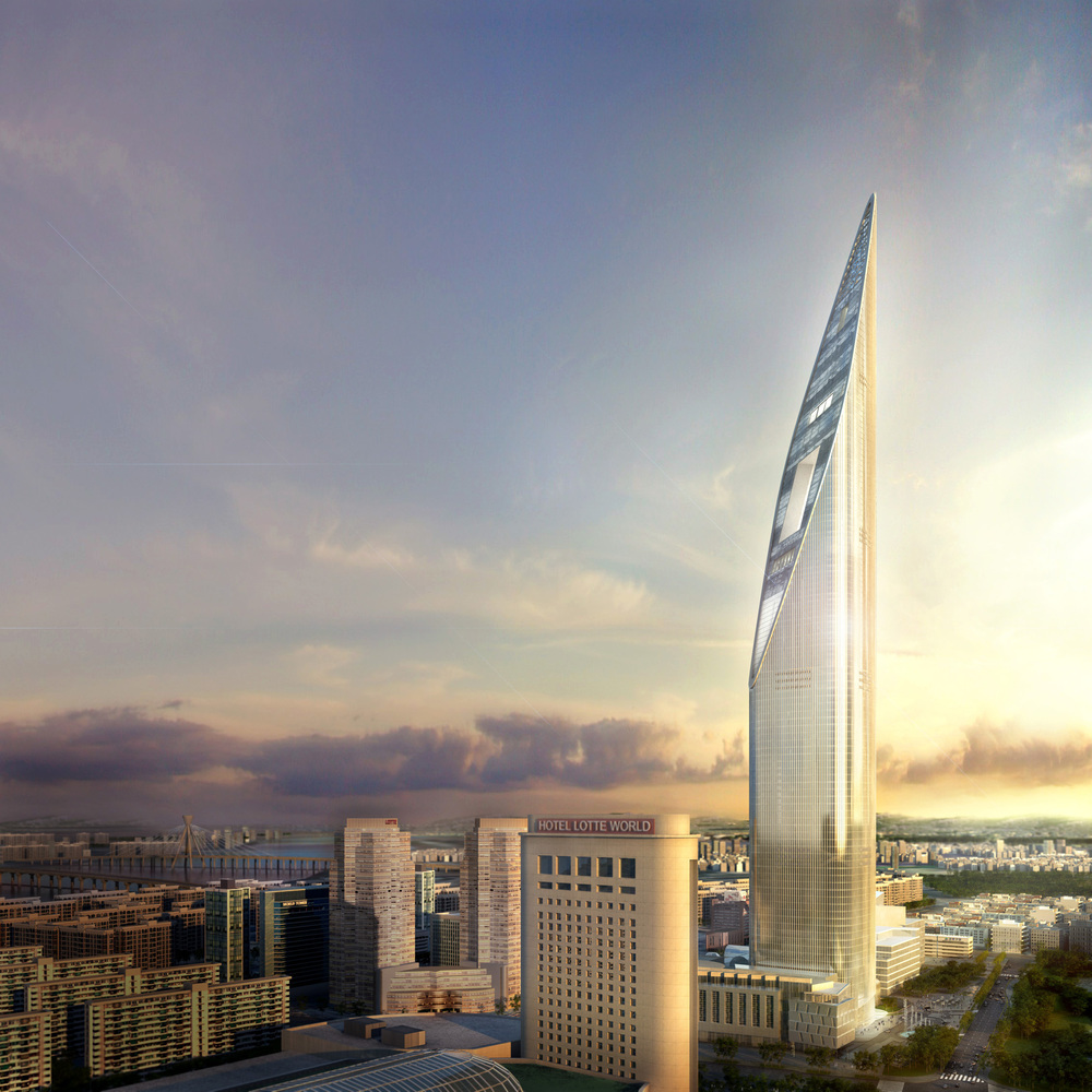 Conceptual design for skyscraper in South Korea