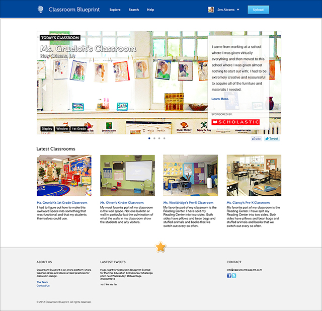 Mockup for Classroom Blueprint