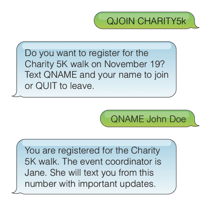 SMS interaction for Q11 project