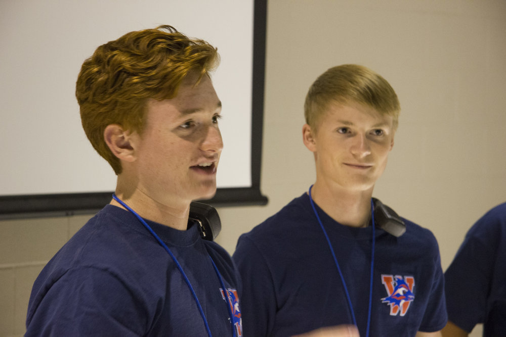 Kyle Beasley and Sean Wangnick Leading a Pre-Game Meeting.jpg