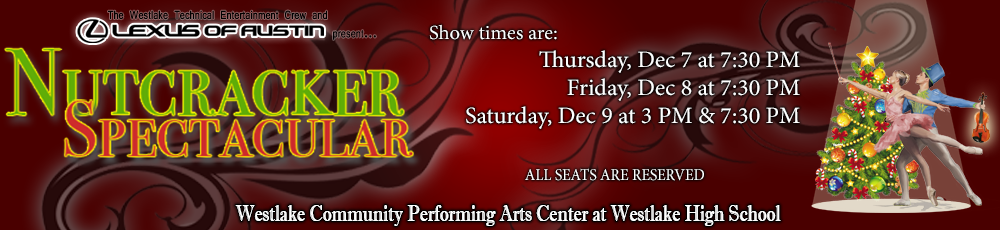 It's that time of the year again! Reserve your Nutcracker Spectacular tickets before it's too late! Check back here on October 14th for more information.