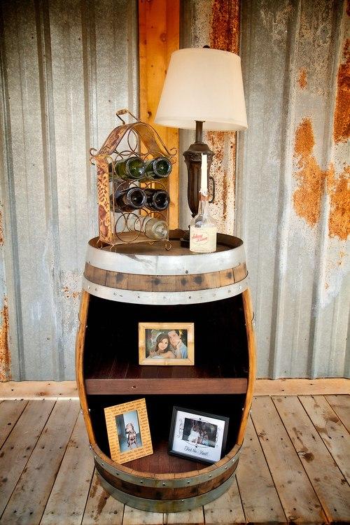 Whole Barrel Shelf Display