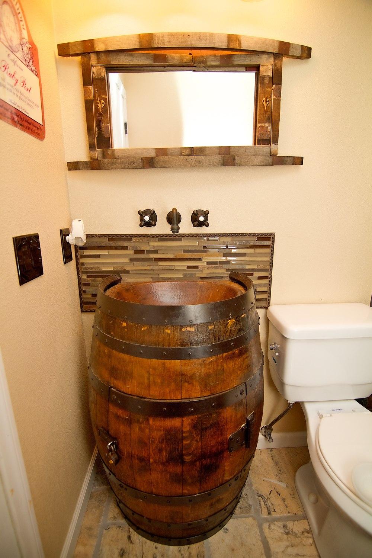 Barrel Sink Cabinet