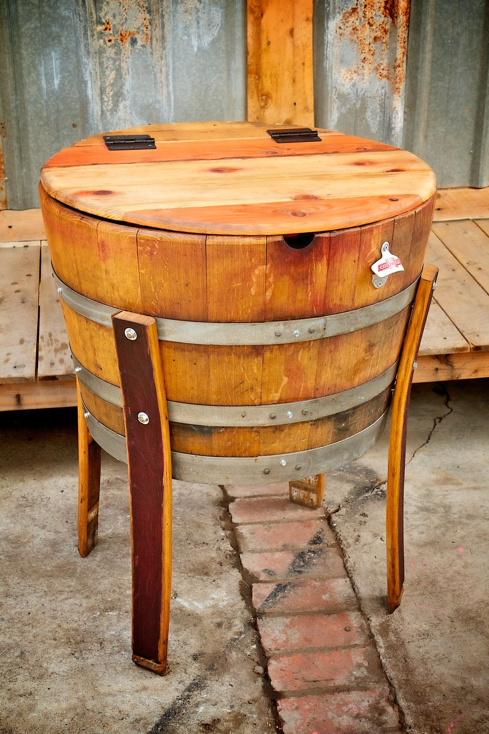 half full barrel beverage cooler king barrel