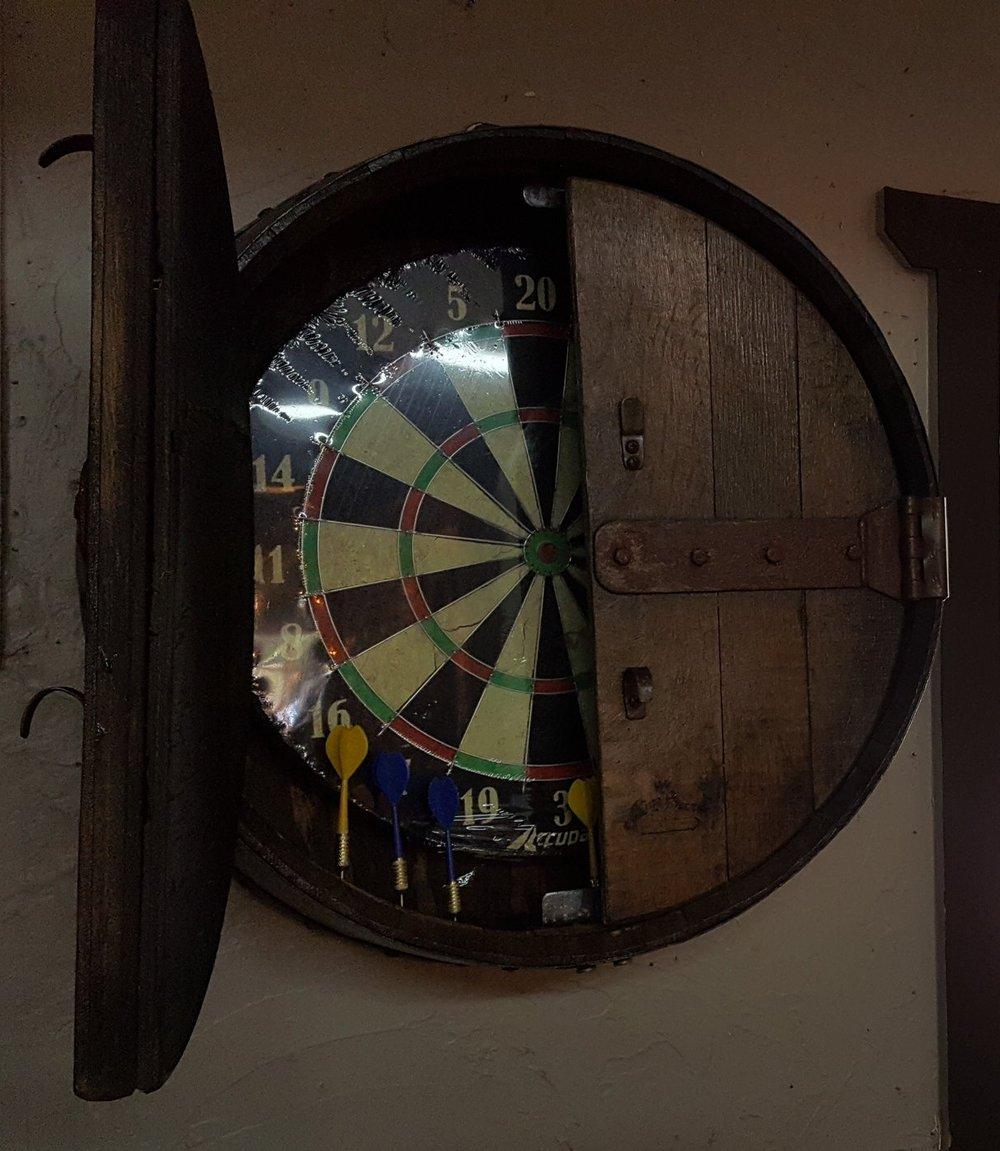 Winners Circle Dart Board Cabinet