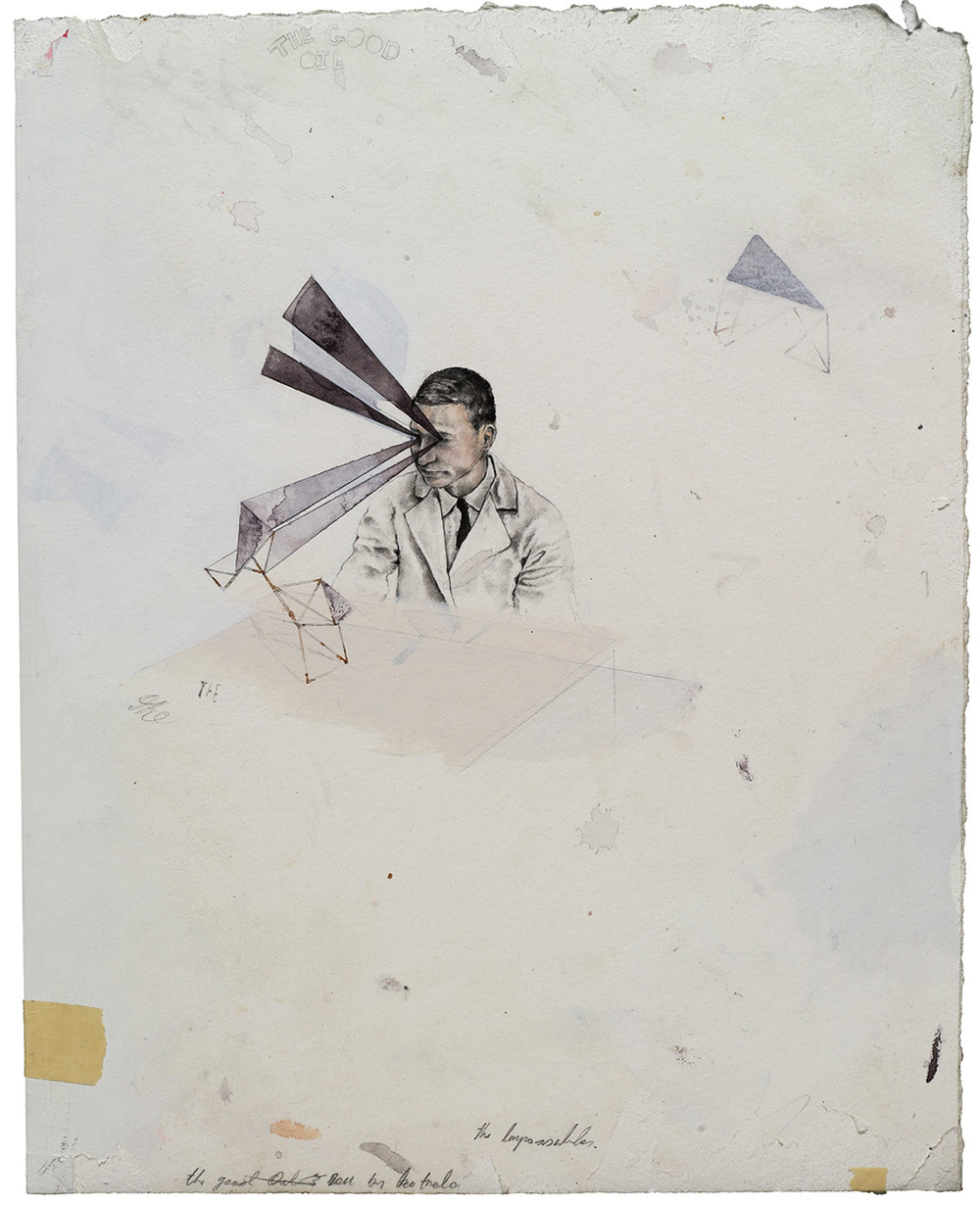 A Small Victory #1, 2012  pencil, watercolour and ink on Arches paper.