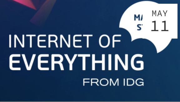 Internet of Everything - Thursday, May 11, 2017, 11:45-12:15Alströmergatan 20-22, 112 47 Stockholm, Sweden