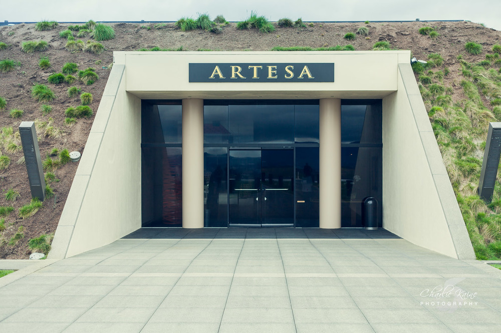 Entrance way to  Artesa Vineyards and Winery