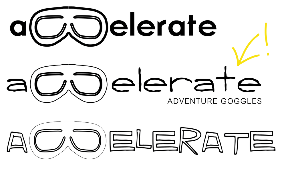 STEP 2:  Develop a logo for our virtual client, Jim.  He wants to sell goggles for fun activities!