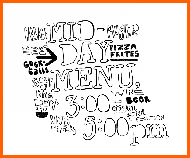 Mid-Day menu from Dobbs Ferry