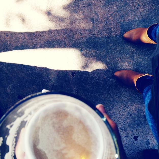 Pre-movie drink with B'stro feet