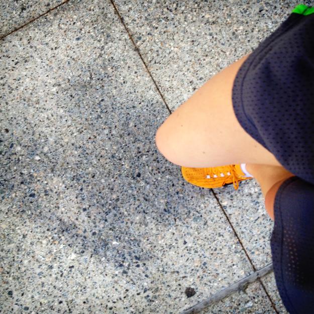 Feet running