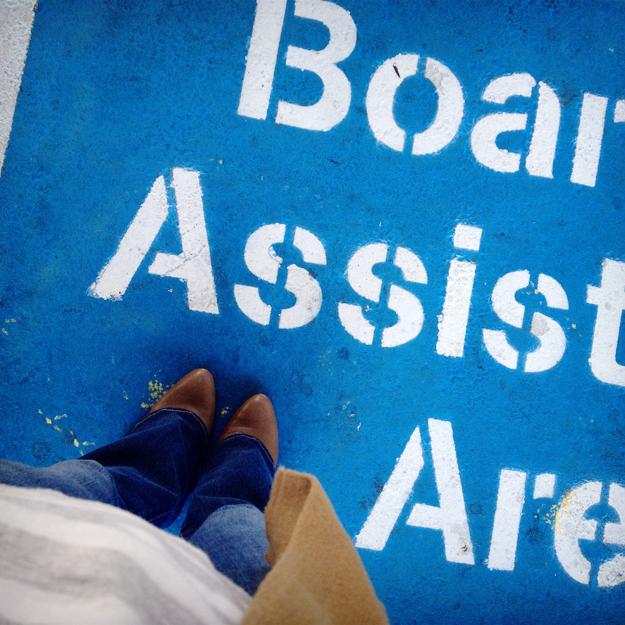Caltrain Boarding Assistance Area