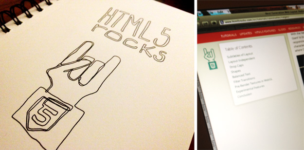 HTML5 Rocks Line Drawing