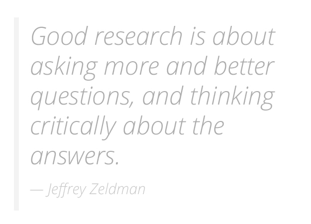 Just enough research by Erika Hall: Forward by Jeffrey Zeldman