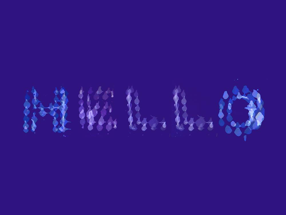 Amalgamation of the 30 second exposure laser cut alphabet