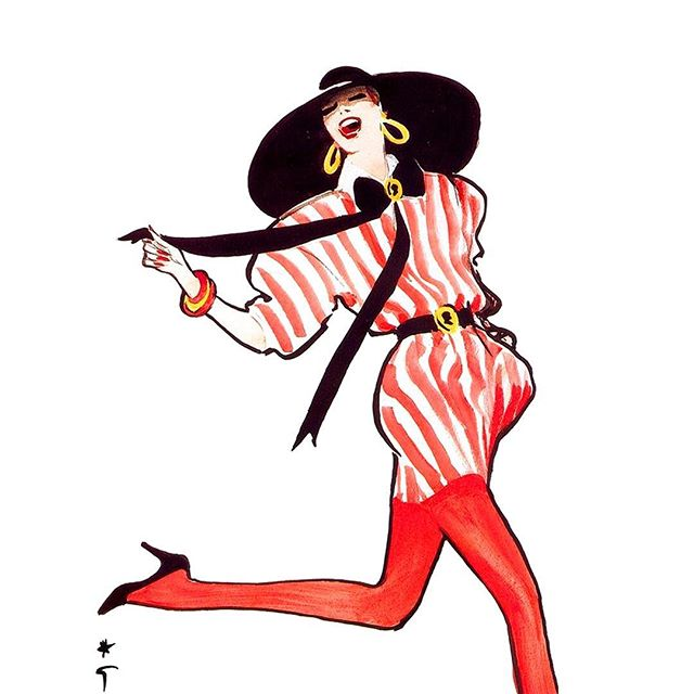 And how was your Sunday? Inspiration from fashion illustrator René Gruau