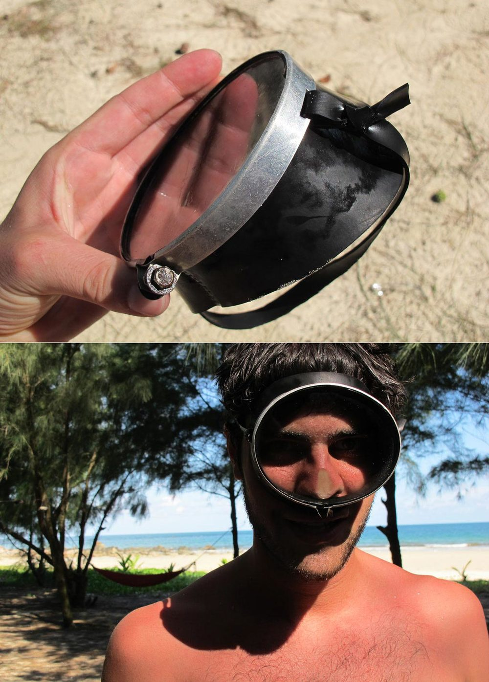 DIY water goggles from a vietnamese island used to fish. #VietnamInObjects / sergivich.com