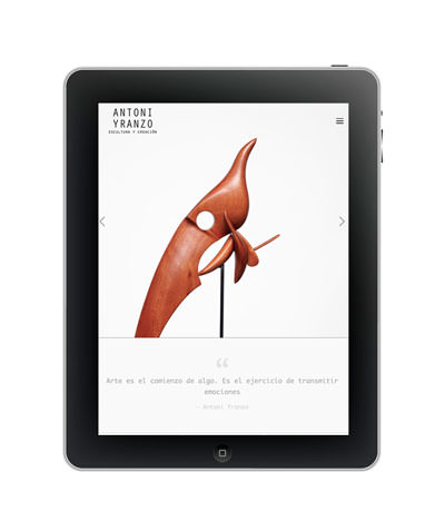 Antoni Yranzo artist web design / sergivich.com