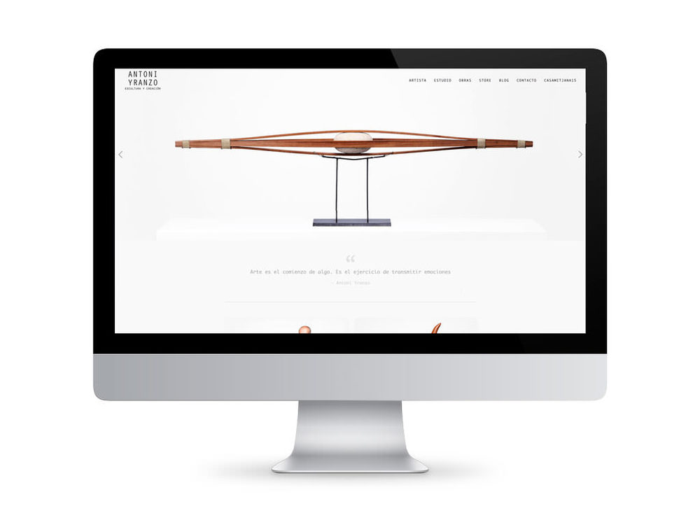 Antoni Yranzo web design / sergivich.com