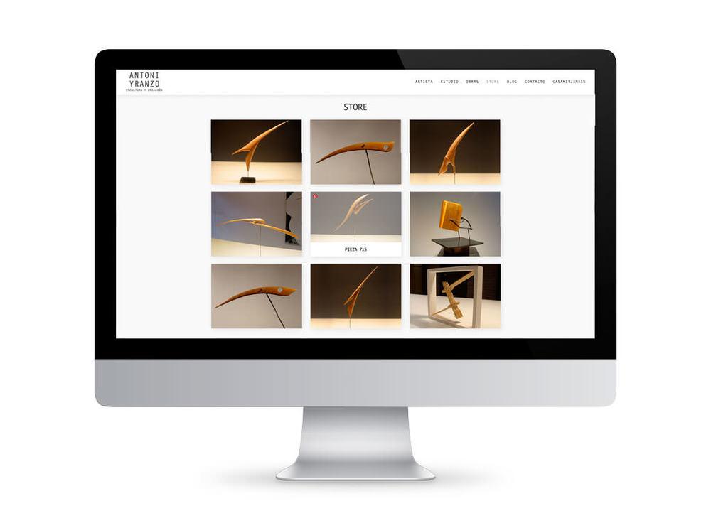 Artist - Antoni Yranzo web design / sergivich.com