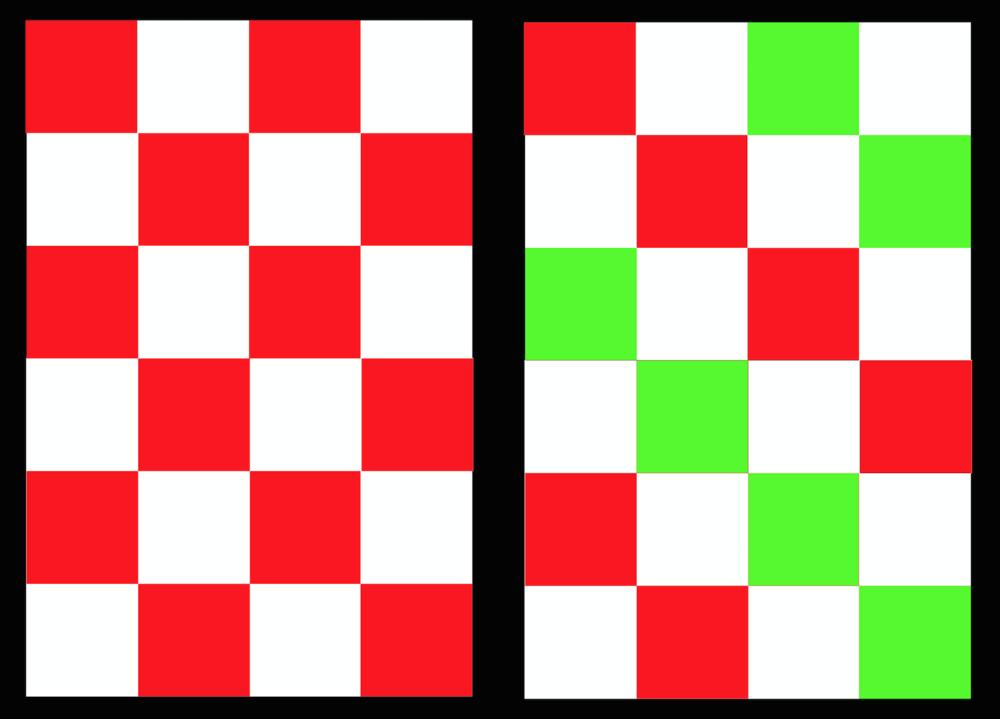"Basic 4"" Block - 2 alternative designs"