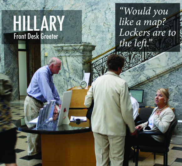 Hillary the Front Desk Worker