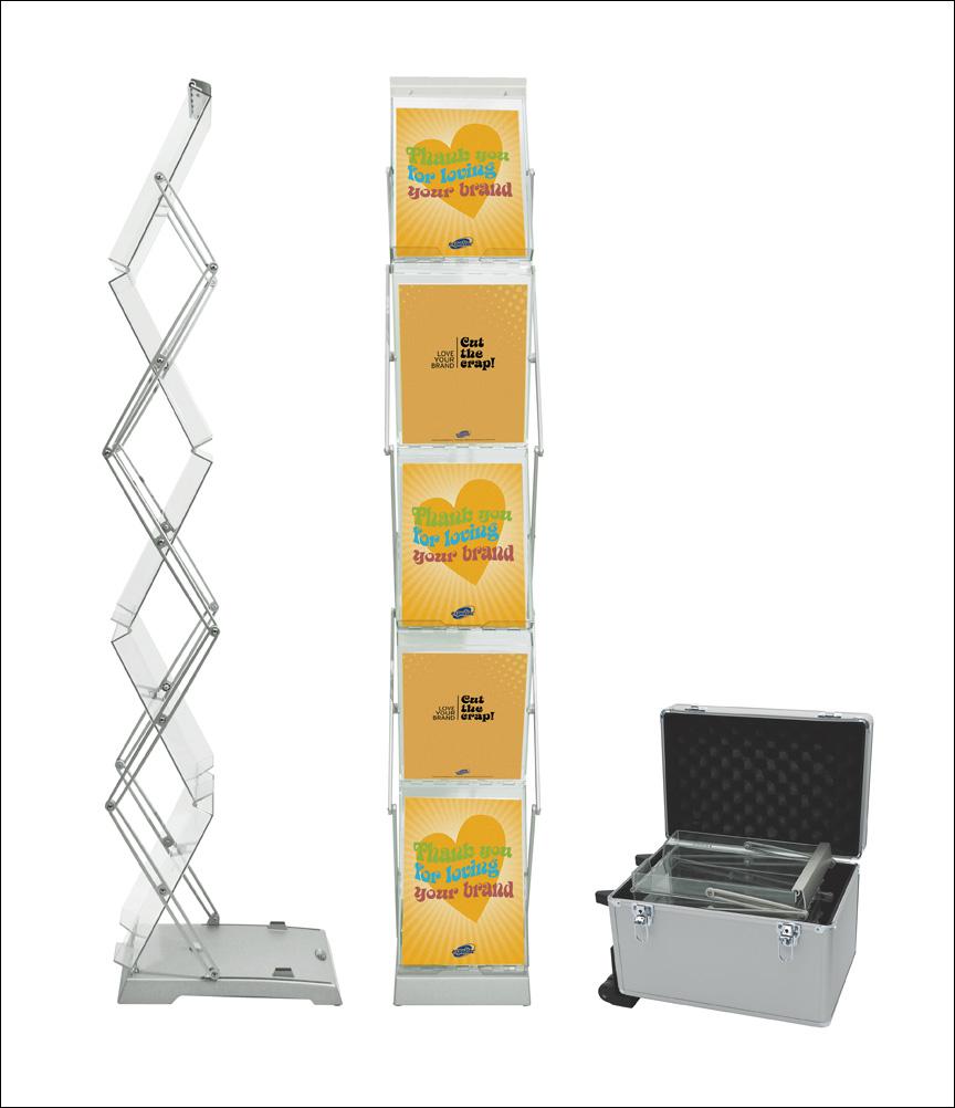 Expolinc Brochure Stand Double. Hinta kovan kuljetuslaukun kanssa 350,00€