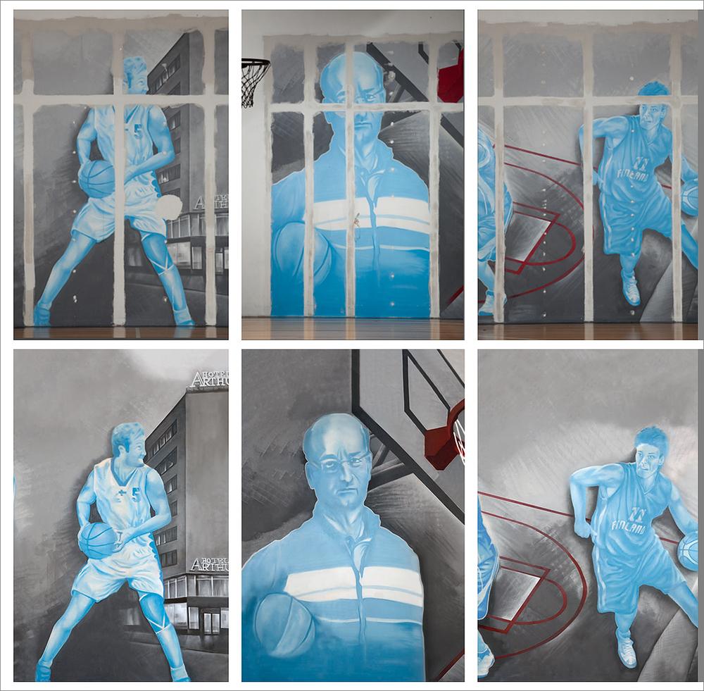 Valokuvaaja Marek Sabogal kävi kuvaamassa siiretyn seinän pala palalta ja me vietimme yli 20 tuntia uudelleen rakentaen seinää Marekin kuvista sekä eri laatuisista Iphone / pokkari kuvista mitä saimme käsiimme.