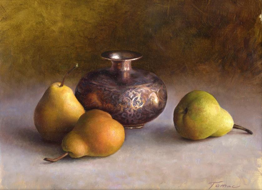 Pears with vase 2013 25x30 cm Sanna Tomac.jpeg