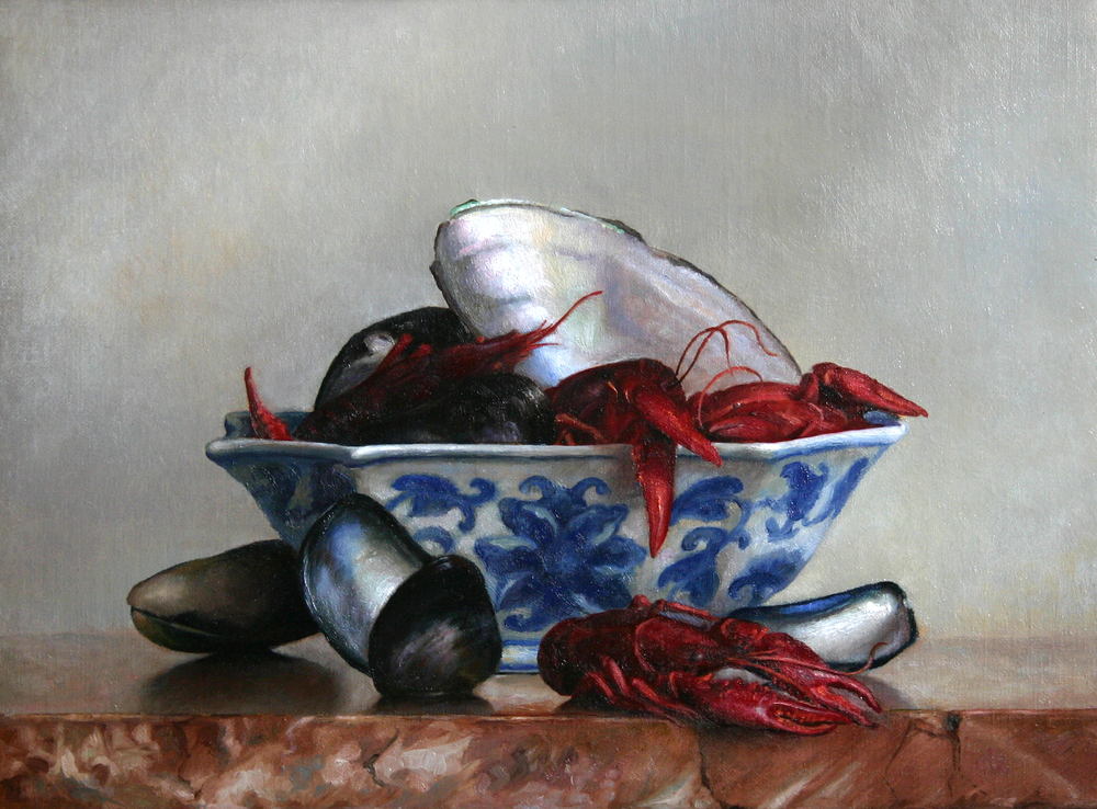 Stillife with Crayfish and shells (2005).jpg