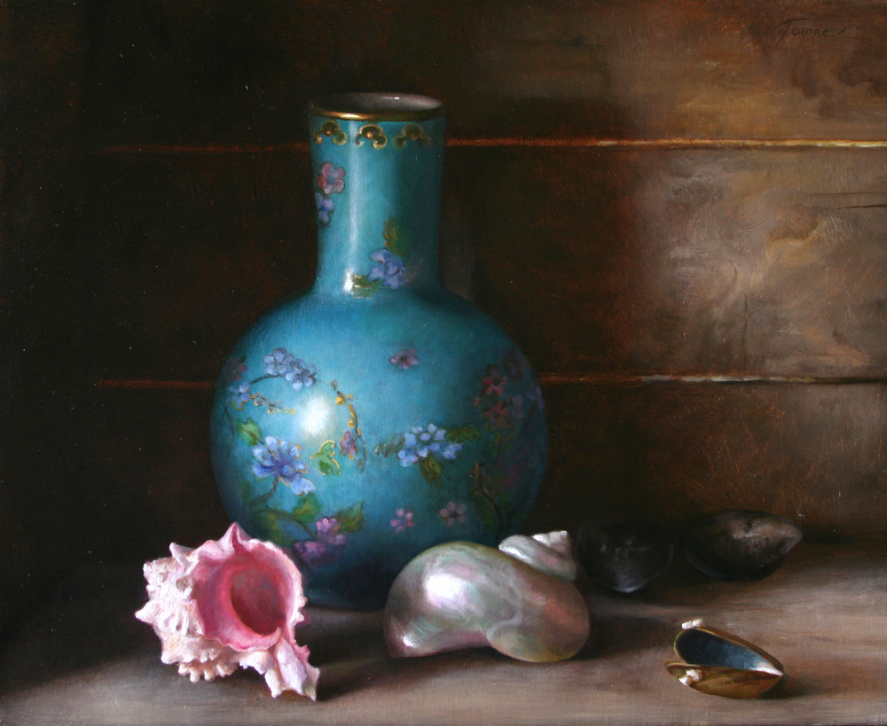 Stillife with turcoise vase 2008 Sanna Tomac.JPG