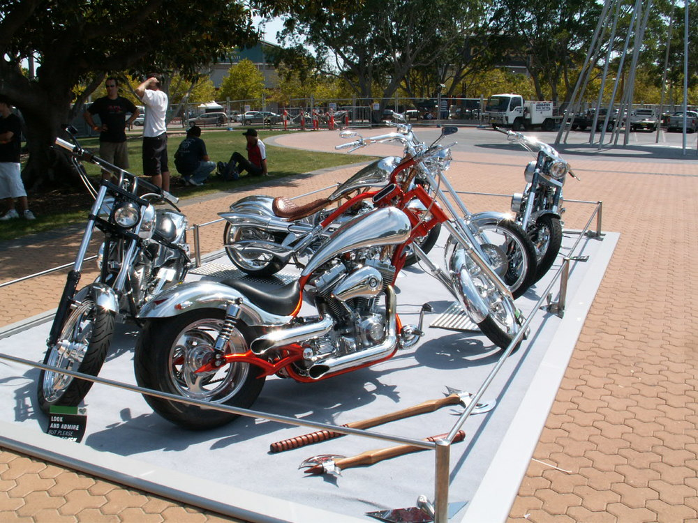 American Chopper comes to town and Scottys Choppers were the stars