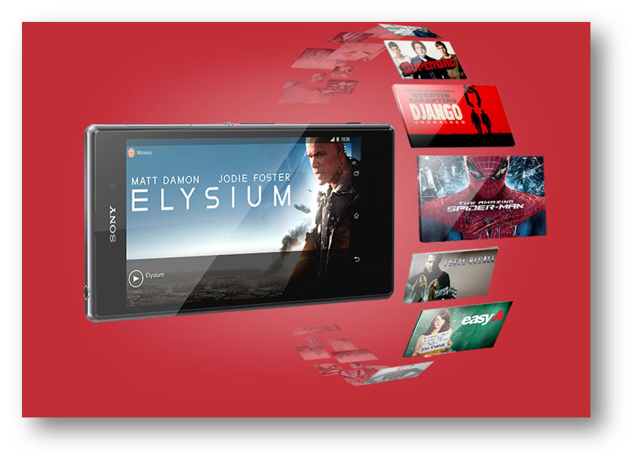 Delivering Movies to Sony Xperia  Z1, Xperia Z Ultra and Xperia Tablet Z Customers worldwide
