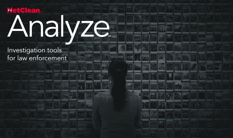 Splash screen for NetClean Analyze.
