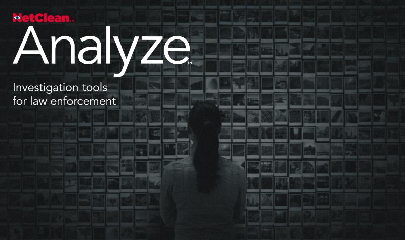 Splash screen for NetClean Analyze.