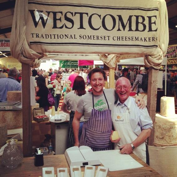 Me and Dad manning the Westcombe stall at The Royal Bath & West Show 2013