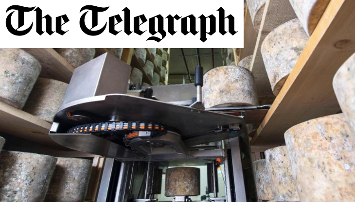 'Tina the Turner': UK's first cheese-turning machine saves family firm flipping 5,000 heavy cheddar wheels