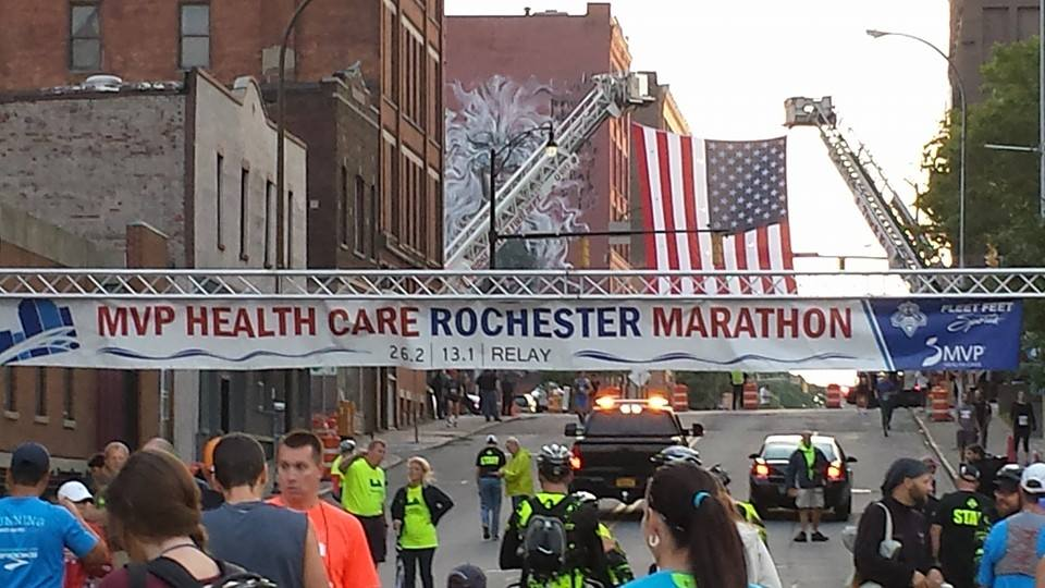 The Start line of the Rochester Marathon Photo Credit: Jeff Polk