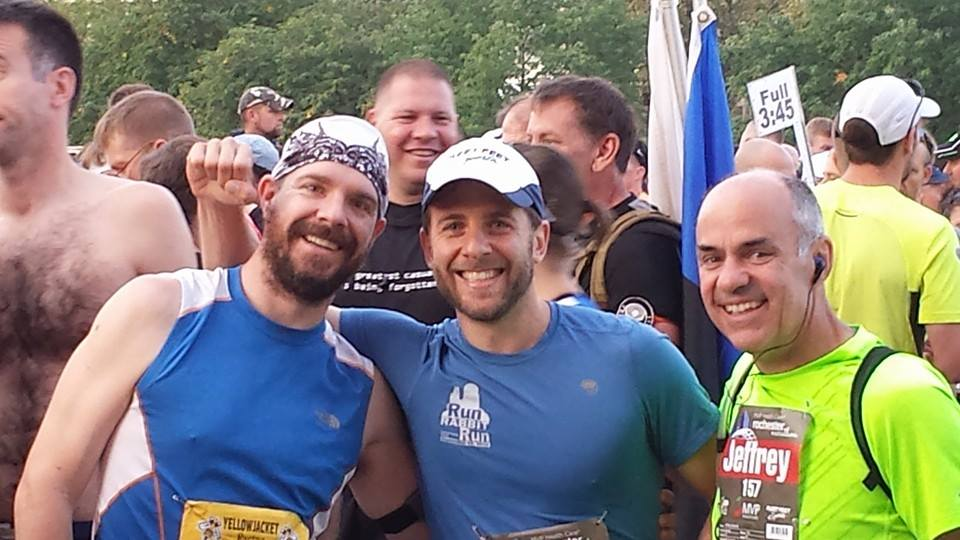 Me, Dave Justice and Jeff Hanzlik. Ready for some Hard Fought Miles.  Photo Credit: Jeff Polk