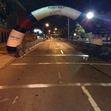 The finish line. It's right here, but yet 26.2 miles away. Photo Credit: Chris O'Brien