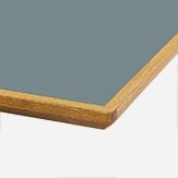 LINOLEUM GRAU-BLAU Eichenkante geölt Multiplex / 30 mm nur als eckiger Tisch verfügbar