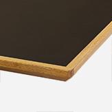 LINOLEUM ANTHRAZIT Eichenkante geölt Multiplex / 30 mm nur als eckiger Tisch verfügbar