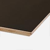 LINOLEUM ANTHRAZIT  Schichtholzkante geölt  Multiplex / 30 mm